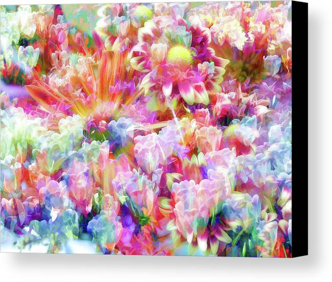 Flowers Canvas Print featuring the photograph Floral Art Cxiii by Tina Baxter