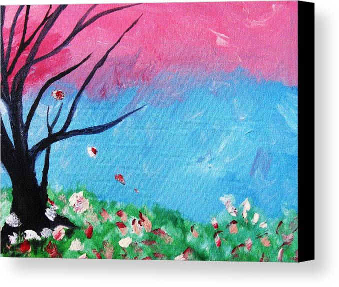 Home Decor Canvas Print featuring the painting Floral Fragrance by Trilby Cole