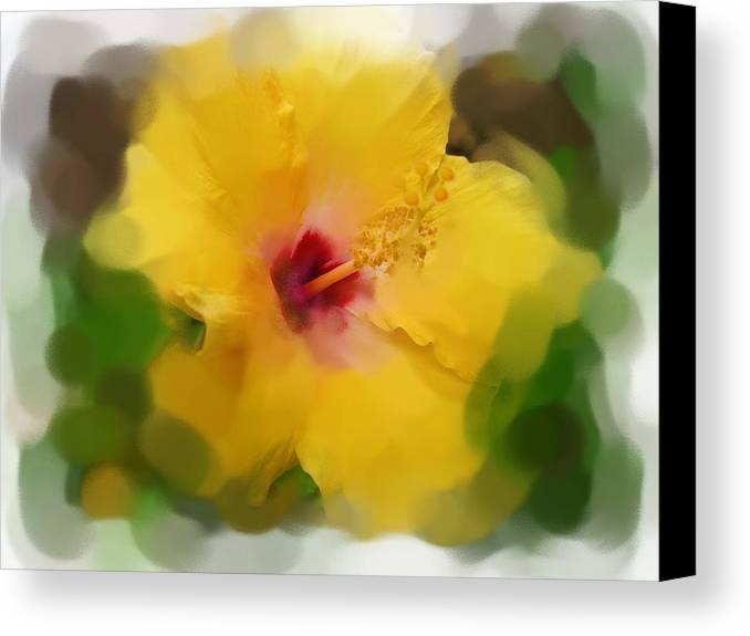 Flower Canvas Print featuring the painting Flower For You by Jonathan Galente