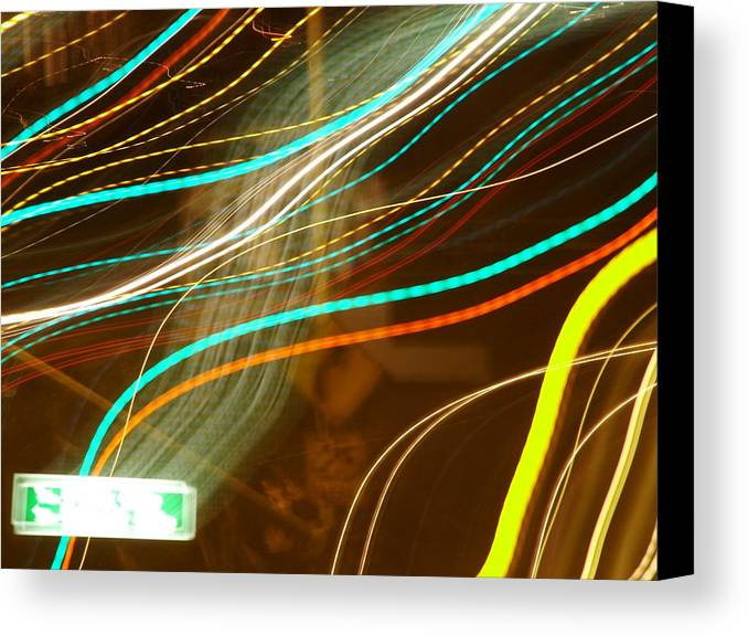 Light Canvas Print featuring the photograph Flowing Light by John Loyd Rushing