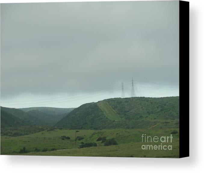 California Canvas Print featuring the photograph Fog In The Sky by Alice Heart
