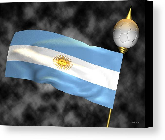 Fifa Canvas Print featuring the photograph Football World Cup Cheer Series - Argentina by Ganesh Barad