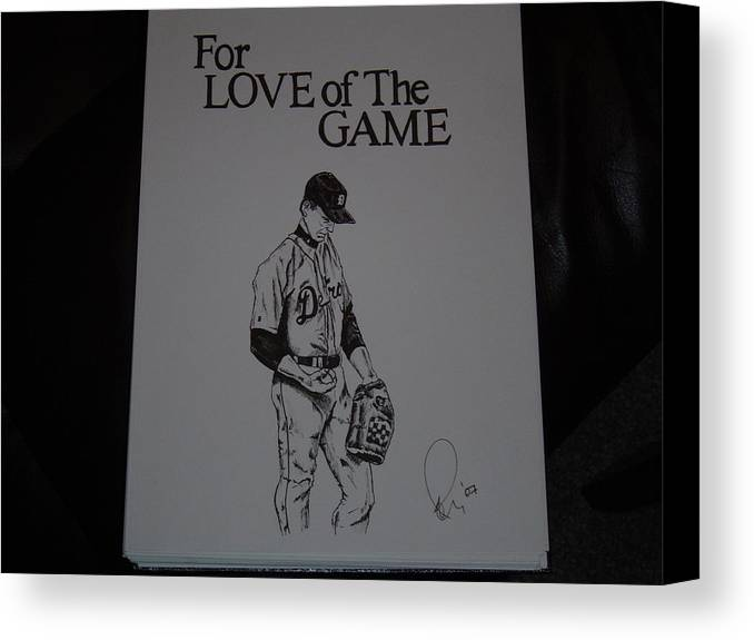 Ink Canvas Print featuring the drawing For Love Of The Game by Raymond Nash