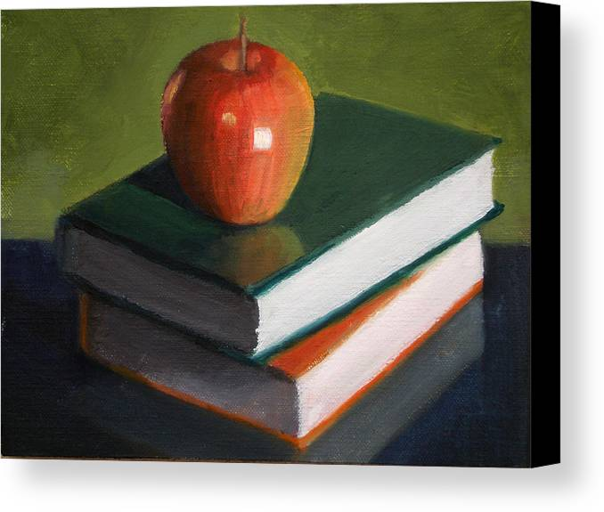 Still Life Canvas Print featuring the painting For The Teacher by Becky Alden