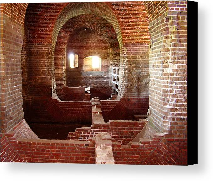 Fort Pulaski Canvas Print featuring the photograph Fort Pulaski I by Flavia Westerwelle