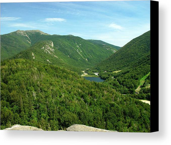 Nature Canvas Print featuring the photograph Franconia Notch by Eric Workman