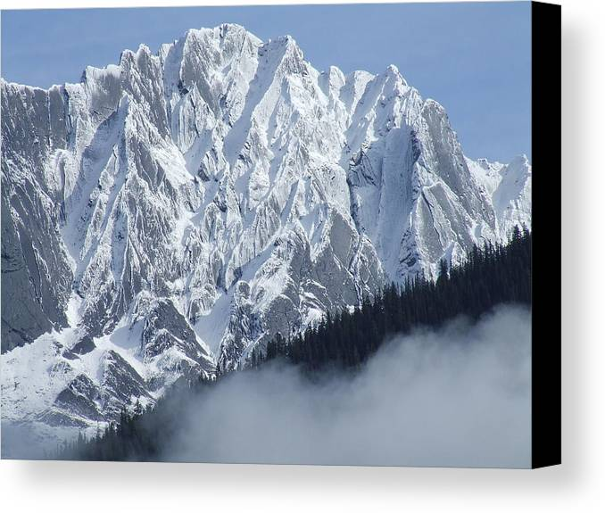 Rocky Canvas Print featuring the photograph Frozen In Time by Tiffany Vest