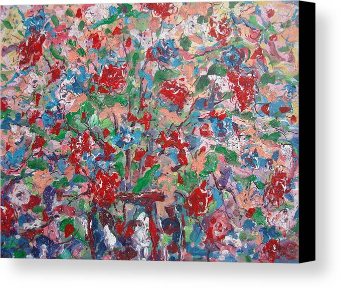 Painting Canvas Print featuring the painting Full Bloom. by Leonard Holland