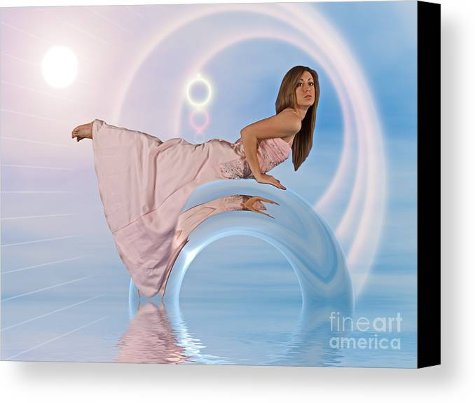 Girl Canvas Print featuring the photograph Girl 1208996 by Rolf Bertram