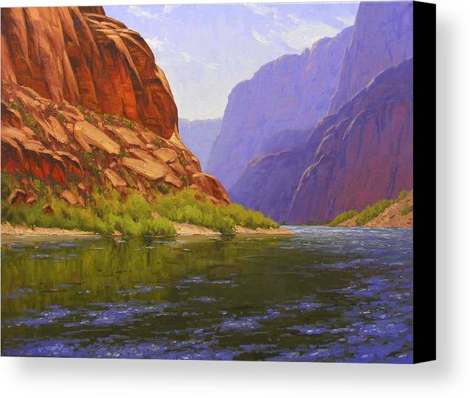 Cody Delong Canvas Print featuring the painting Glen Canyon Morning by Cody DeLong