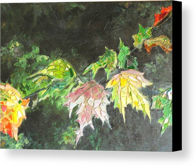 Acrylic Canvas Print featuring the painting Glistening Fall by Cynthia Ann Swan