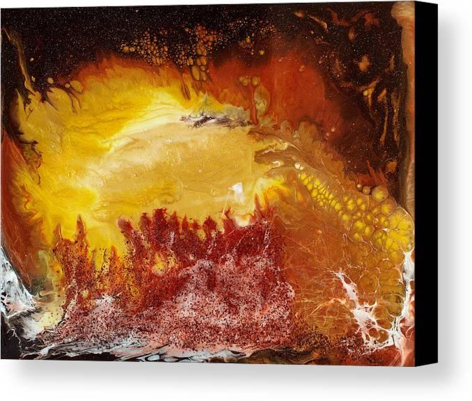 Paul Tokarski Canvas Print featuring the painting Gold Vein by Paul Tokarski