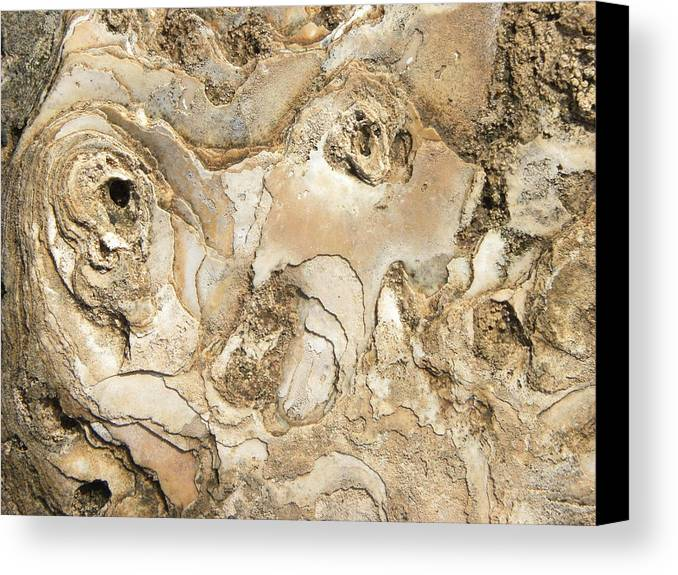 Abstract Canvas Print featuring the photograph Golden Lava by Sachin
