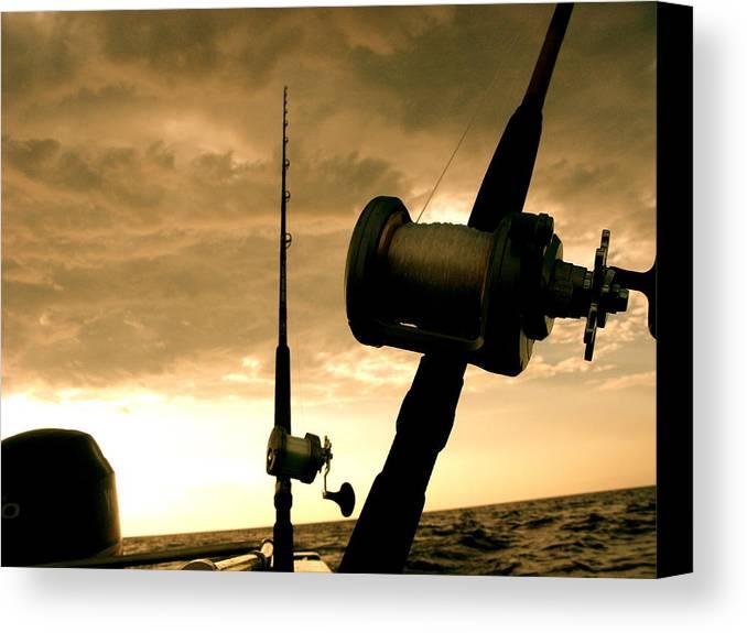 Fishing Canvas Print featuring the photograph Gone Fishin' by Ariane Moshayedi