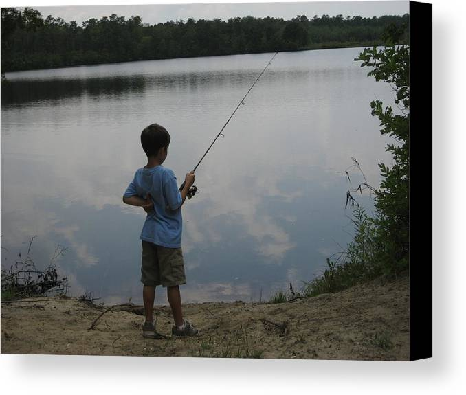 Landscape Canvas Print featuring the photograph Gone Fishing by Jennifer Sweet