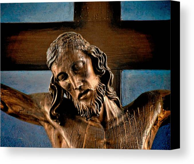 Easter Canvas Print featuring the photograph Good Friday Jesus On The Cross by Christine Till