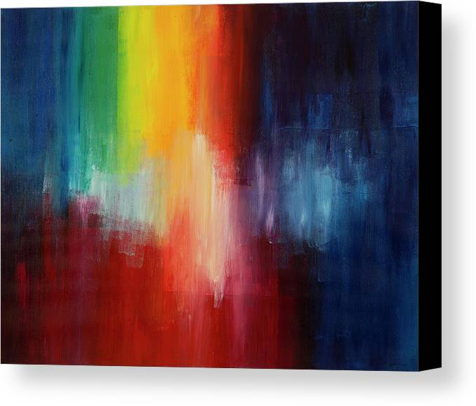 Vibration Canvas Print featuring the painting Good Vibrations by Chelsie Ring