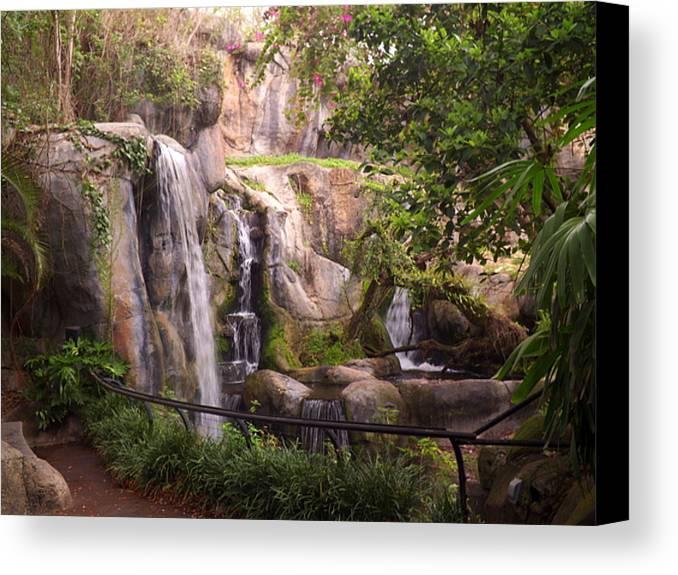 Busch Gardens Canvas Print featuring the photograph Gorilla Falls by Wayne Skeen