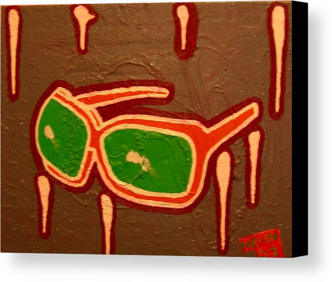 Sunglasses Canvas Print featuring the mixed media Grey Light by Heinrich Haasbroek