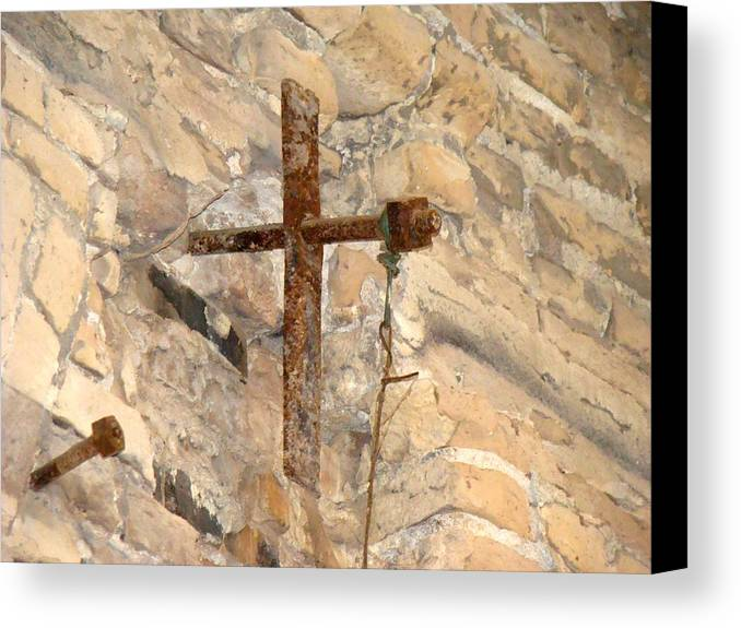 Cross Canvas Print featuring the photograph Gristmill Cross Two by Ana Villaronga