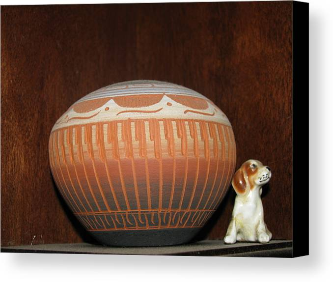 Dog Canvas Print featuring the photograph Guardian 2 by Belinda Consten