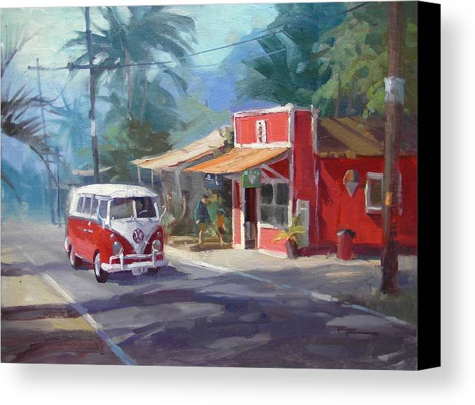 Hawaii Canvas Print featuring the painting Haleiwa by Richard Robinson