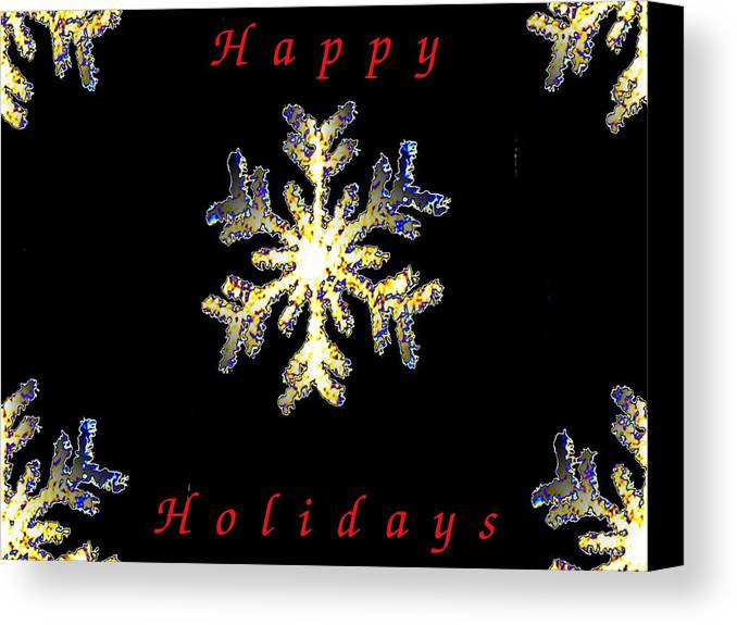 Holiday Canvas Print featuring the photograph Happy Holiday Snowflakes by Tim Allen