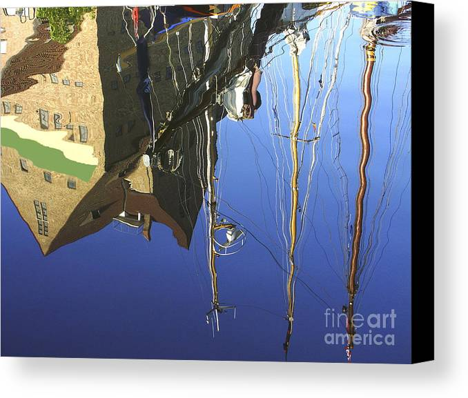 Harbor Canvas Print featuring the photograph Harbour Reflection by Sascha Meyer