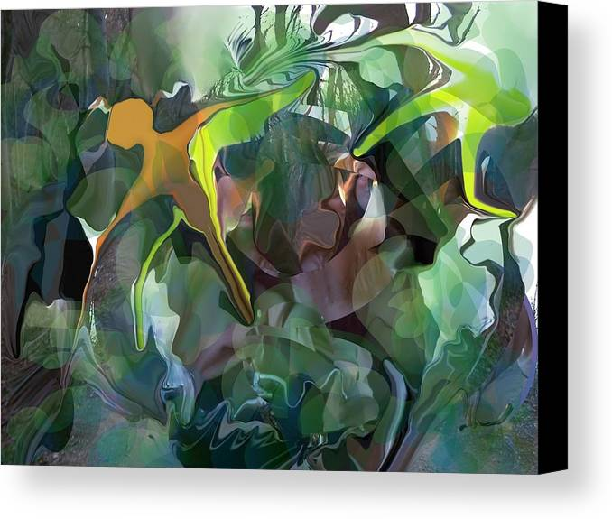 Abstract Canvas Print featuring the digital art Harper's Ferry Hiking by Peter Shor