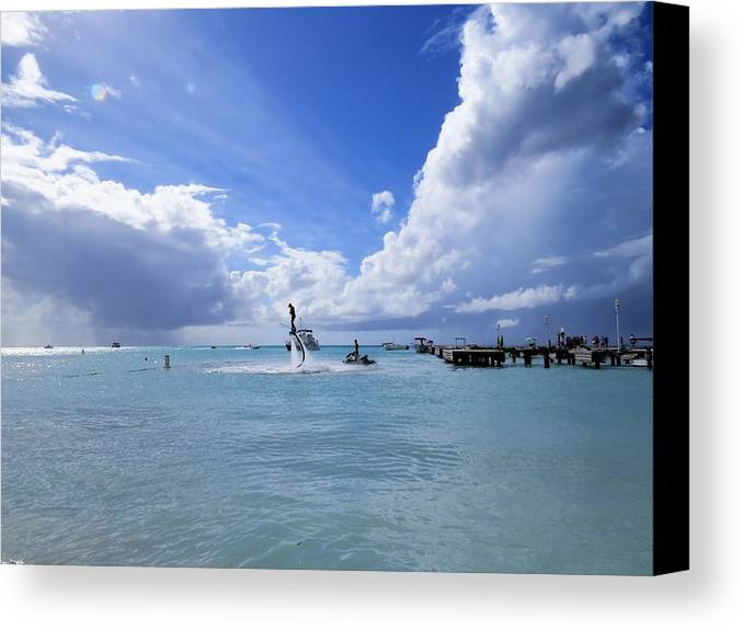 Sea Canvas Print featuring the photograph Heavenly Day by Sandra Bourret