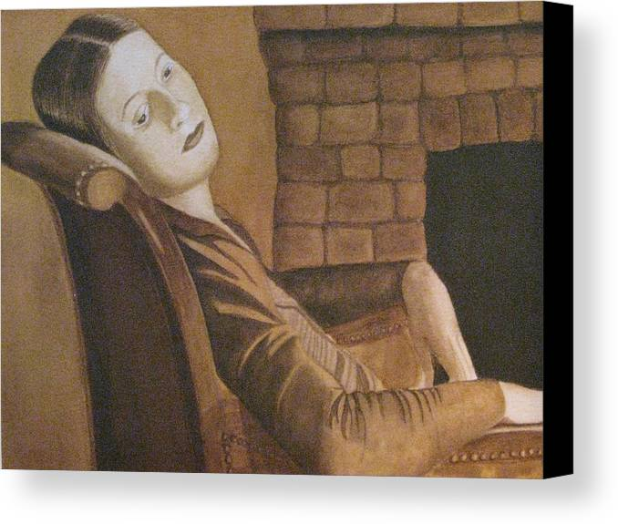 Portrait Canvas Print featuring the painting Helen by Barbara Pascal