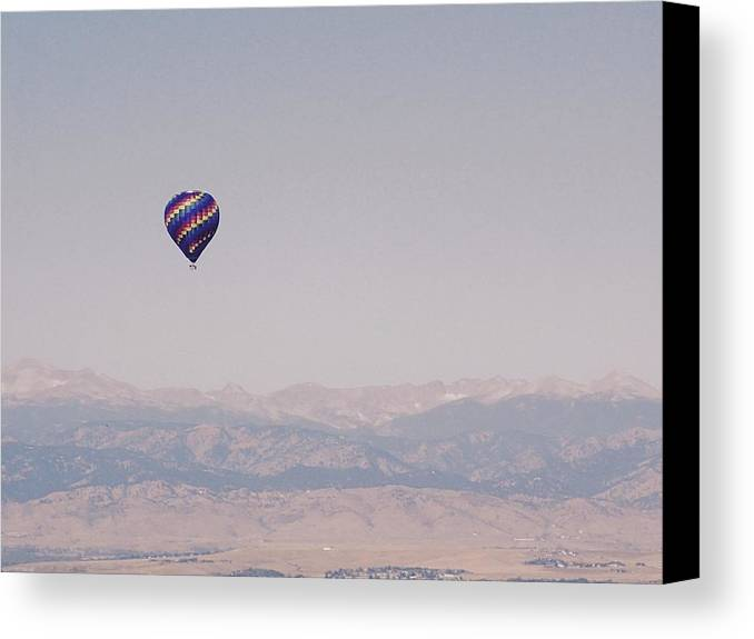 Hot Canvas Print featuring the photograph High Above The Rocky Mountains by Lora Louise