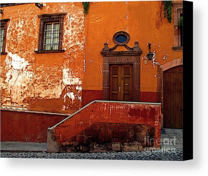 San Miguel De Allende Canvas Print featuring the photograph Hilltop Home by Mexicolors Art Photography