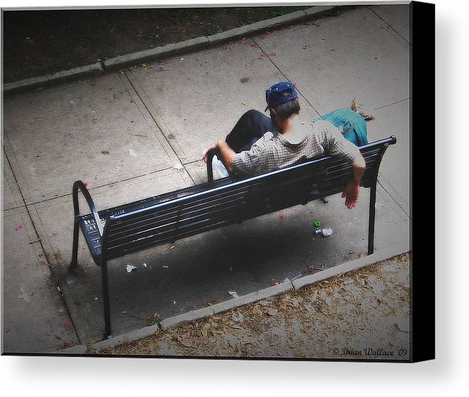 2d Canvas Print featuring the photograph Hot And Homeless by Brian Wallace