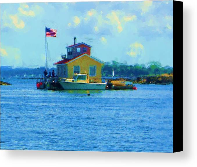 Canvas Print featuring the painting Impossible House Boat - New York by Jonathan Galente