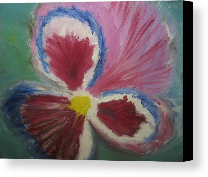 Flower Canvas Print featuring the painting In The Eye Of The Beholder by Paula Andrea Pyle