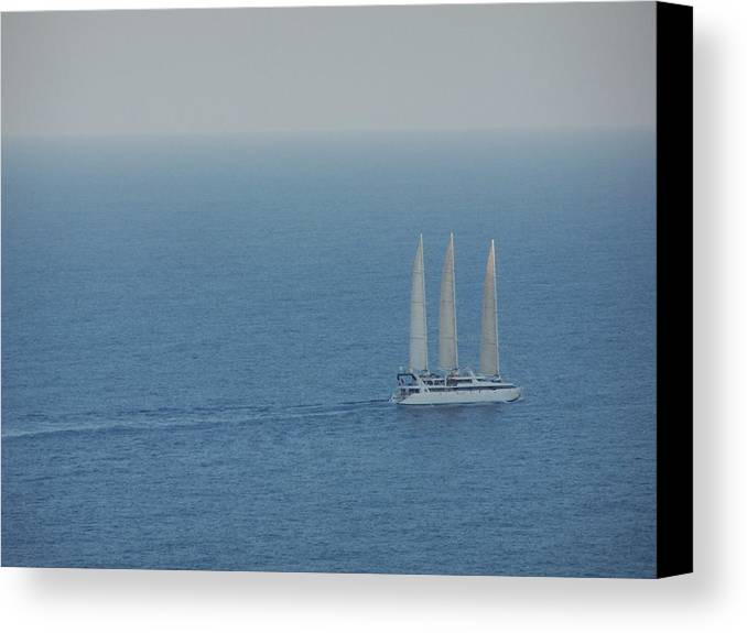 Capri Canvas Print featuring the photograph Infinite Sea by Adam Schwartz