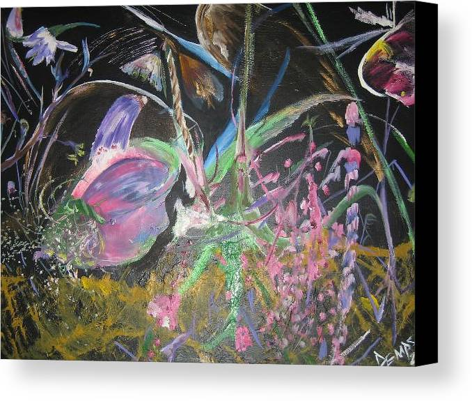 Abstract Canvas Print featuring the painting Innocense by Impressionist FineArtist Tucker Demps Collection