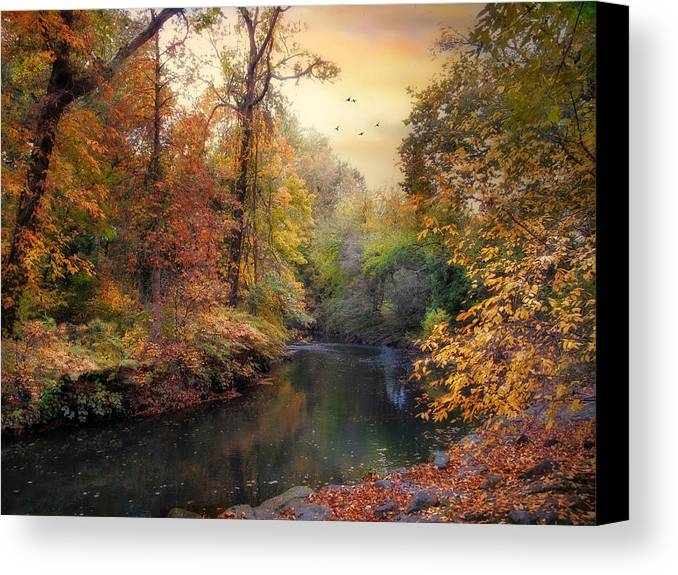 Autumn Canvas Print featuring the photograph Intimate Autumn by Jessica Jenney