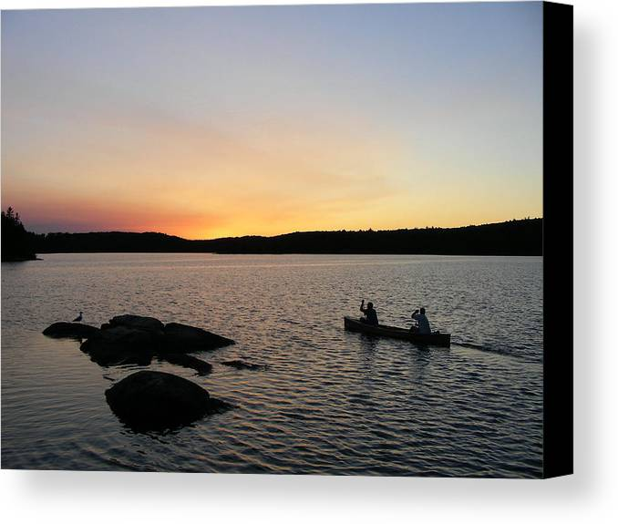 Nature Canvas Print featuring the photograph Into The Sunset by Peter McIntosh