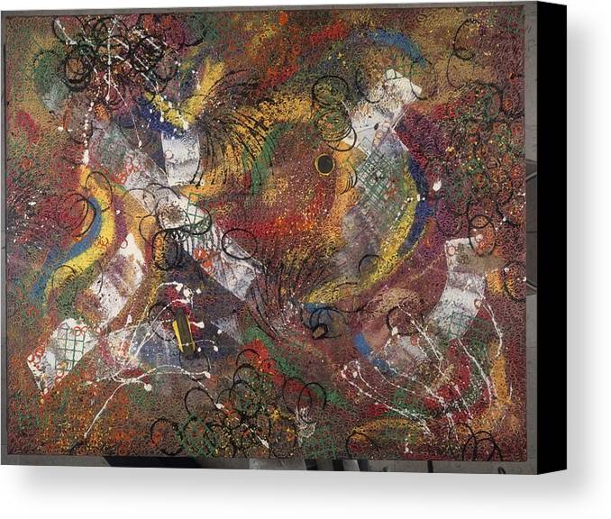 Abstract Canvas Print featuring the painting Introuvable Ailleurs by Dominique Boutaud