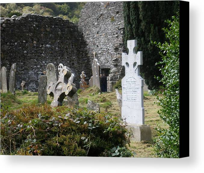 Graveyard Canvas Print featuring the photograph Irish Graves by Siobhan Yost