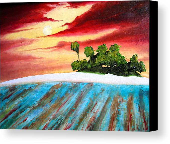 Surf Canvas Print featuring the painting Island Fever by Ronnie Jackson