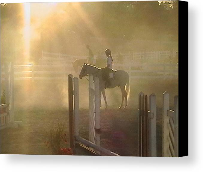 Horse Canvas Print featuring the photograph It Is Almost Show Time by Donna Thomas