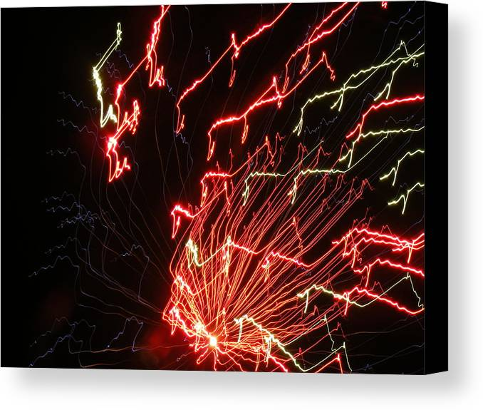 Fireworks Canvas Print featuring the photograph Its Electric by James and Vickie Rankin