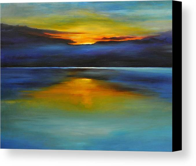 Sunset Canvas Print featuring the painting Its Five Oclock Somewhere by Debbie Anderson