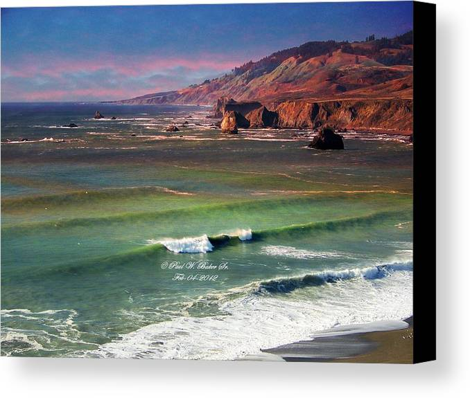 Paul Baker Canvas Print featuring the photograph Jenner By The Sea by Paul Baker