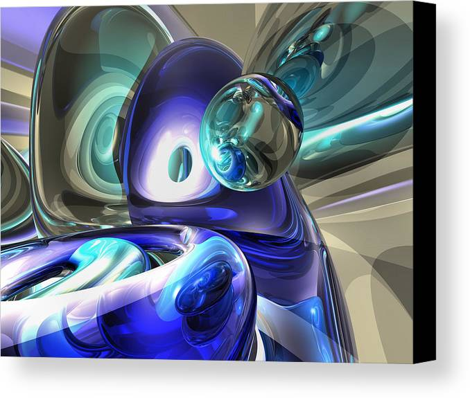 3d Canvas Print featuring the digital art Jewel Of The Nile Abstract by Alexander Butler