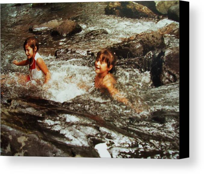 A Child Delight.. Canvas Print featuring the photograph Joy And Rejoice by Nereida Slesarchik Cedeno Wilcoxon