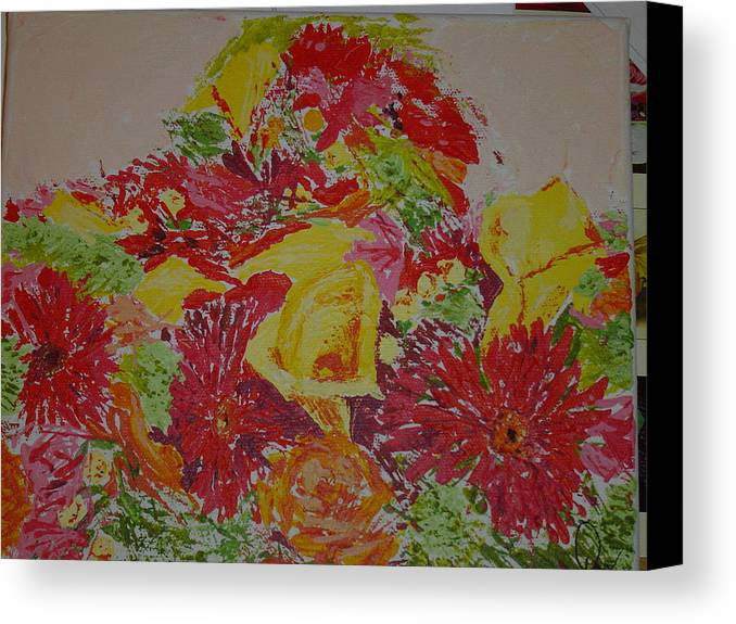Acrylic Canvas Print featuring the painting June Bouquet by Raymond Nash